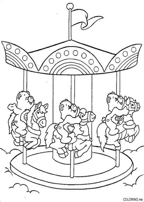 Coloring Page Care Bears On Enchanted Carousel Coloring Me Carousel Coloring Pages