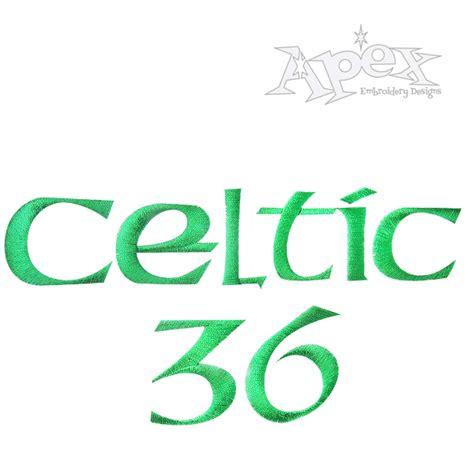 celtic pattern font irish celtic embroidery font