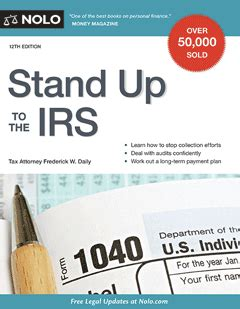 stand up to the irs books stand up to the irs book on tax laws nolo
