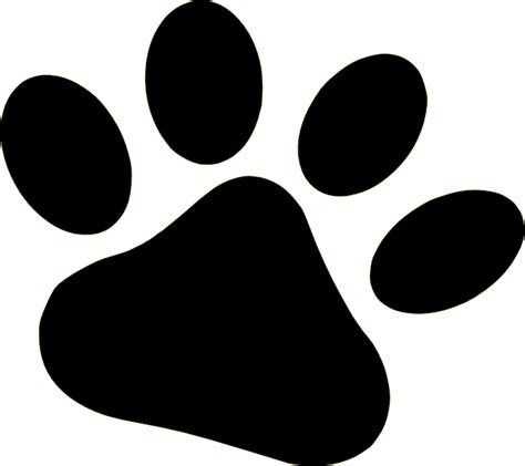 puppy paw paw print stencil cliparts co