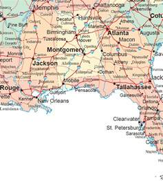 Southern Usa Map by Deep South Map Region Area Maps Of The United States
