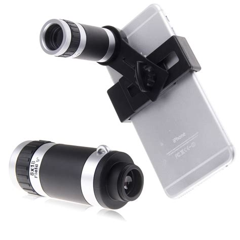 Mobile Phone Telescope Lens 8x Optical Zoom Universal Cl Black 6 universal 8x zoom telephoto optical lens telescope for mobile phone
