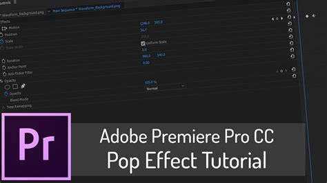 Tutorial Adobe Premiere Effects | pop effect tutorial adobe premiere pro cc youtube
