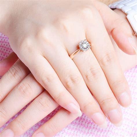 On Sale: Half Carat Round Diamond Halo Engagement Ring