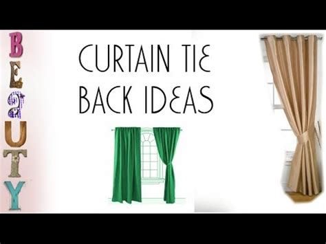 how to tie curtains that are too long curtain tie back ideas youtube
