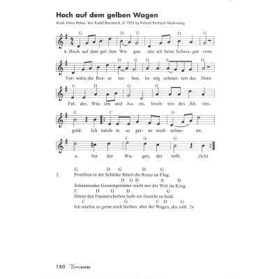 lied hoch auf dem gelben wagen text ton band kultsongs lieder ketteler50100