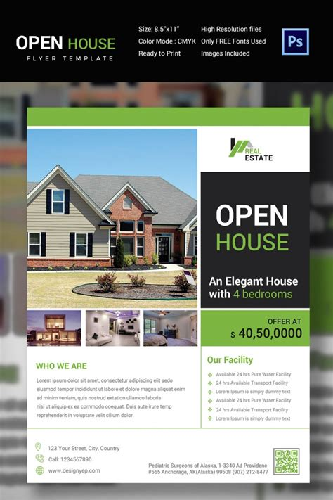 27 Open House Flyer Templates Printable Psd Ai Vector Eps Design Trends Premium Psd Open House Flyer Template Free
