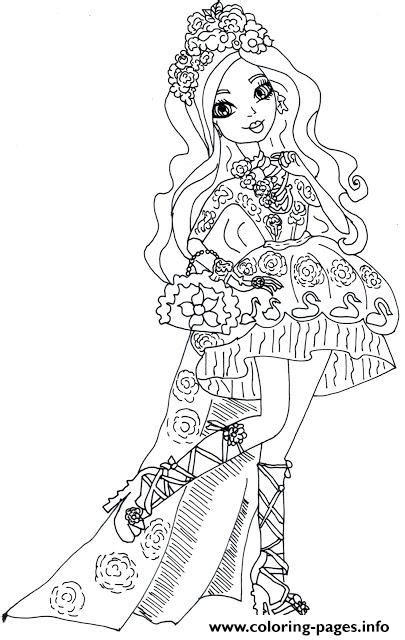 coloring pages for ever after high spring unsprung briar beauty ever after high coloring