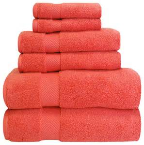 coral bath towel set superior collection 6 100 cotton zero twist towel