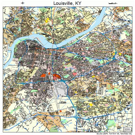 map of louisville ky louisville kentucky map 2148000