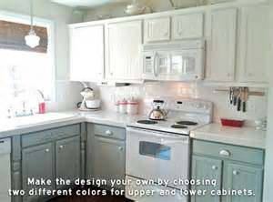 Kitchen Cabinets Different Colors Kitchen With Top Cabinets Different Color From Lower