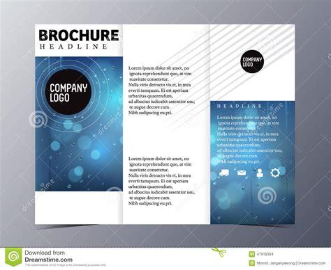 abstract blue brochure design template vector tri fold