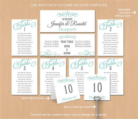 search results for wedding table seating chart template