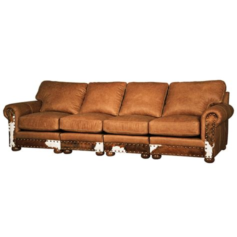 Western Furniture Hinsdale Four Cushion Sectional Sofa Western Sectional Sofa