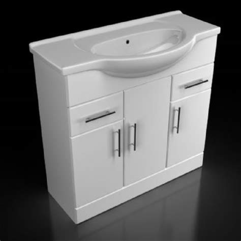 blanco 750mm vanity unit with basin and optional mirror