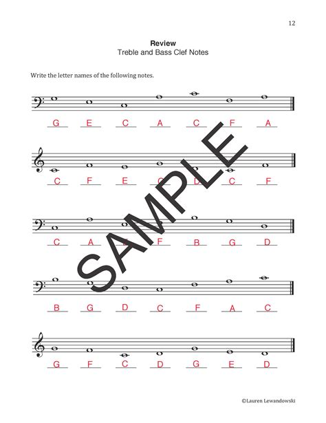 Note Name Worksheet by Note Naming Worksheets Piano With