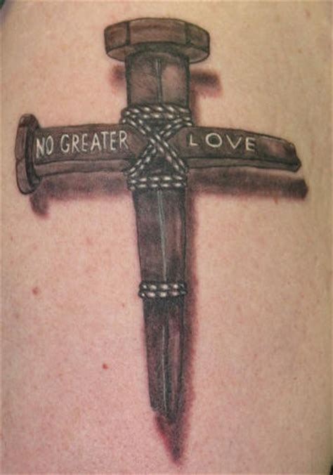 cross nail tattoo iron nail cross christian tattooimages biz