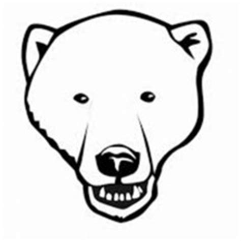 coloring page of a bear head bear netart