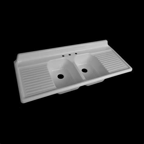 Kitchen Sinks With Drain Boards Reproduction Basin Drainboard Sink Model 6025 Ebay