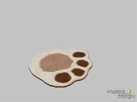paw rug nynaevedesign s altara puppy paw rug