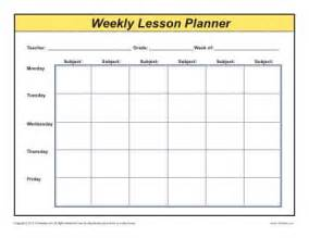 Weekly detailed multi subject lesson plan template elementary