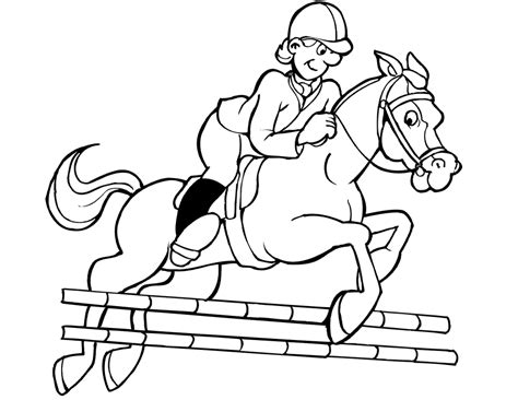 coloring pages horses jumping jockey jumping horse coloring pages for kids sport