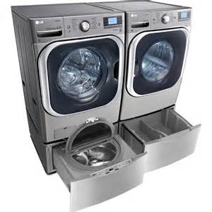 Lg Front Load Washer Pedestal Lg Wm8500hva Front Load Washer Amp Dlex8500v Electric Dryer