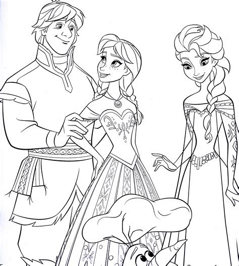 printable frozen characters free coloring pages of frozen caracters