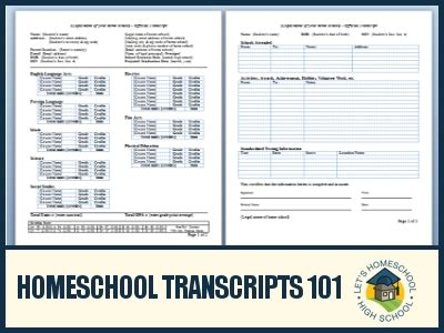 High School Transcript Template Peerpex Free Homeschool Transcript Template