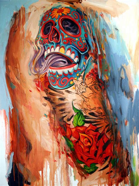 tattoo body paint art sci paintings of tattoos reveal life beneath the art