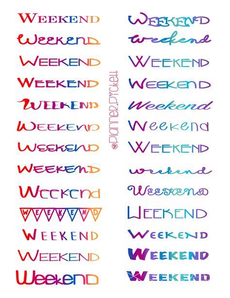 free printable weekend planner stickers weekend planner printable calendar template 2016