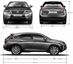 Lexus Rx Dimensions Lexus Rx 450h Meilleure Voiture Hybride