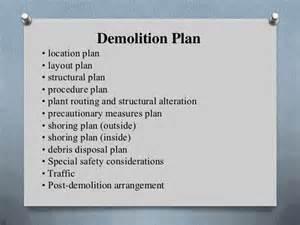 demolition plan template presentation demolition yıkım