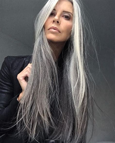 Hairstyles For Turning Grey | best 25 long silver hair ideas on pinterest silver