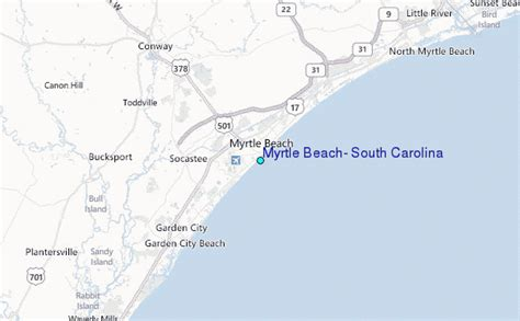 south myrtle beach sc map myrtle beach south carolina tide station location guide