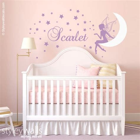 Name Wall Decor For Nursery Baby Nursery Decor Moon Wall Decor For Baby Nursery Personalized Last