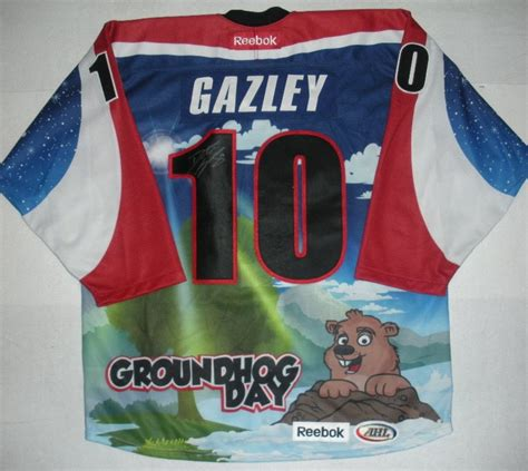 groundhog day auction dustin gazley hershey bears groundhog day autographed