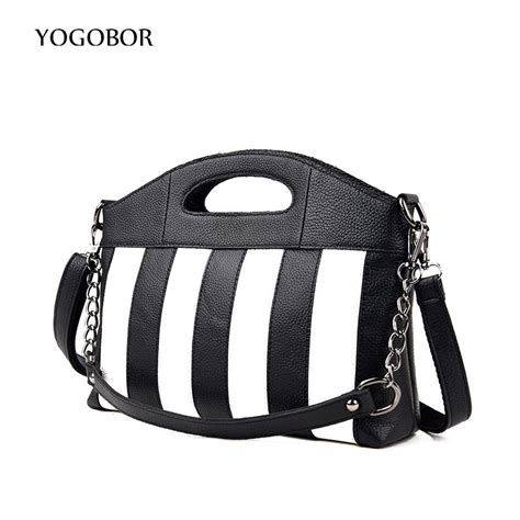 Tas Black White Messenger Dt0789bw popular black and white striped purse buy cheap black and white striped purse lots from china