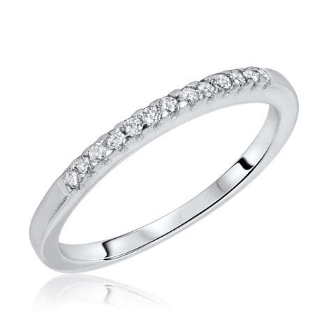 1 carat trio wedding ring set 10k white gold my