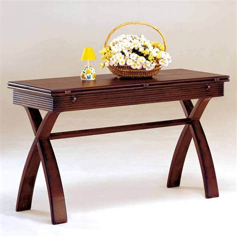 X Leg Console Table Kingston Functional Expandable Table Top Sofa Console Table X Leg Wood In Cherry Ebay