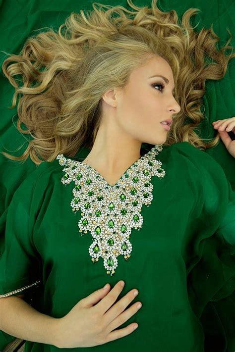 Adha 3 Maxi yara yosif quot dalia quot emerald green bridal eid adha kaftan