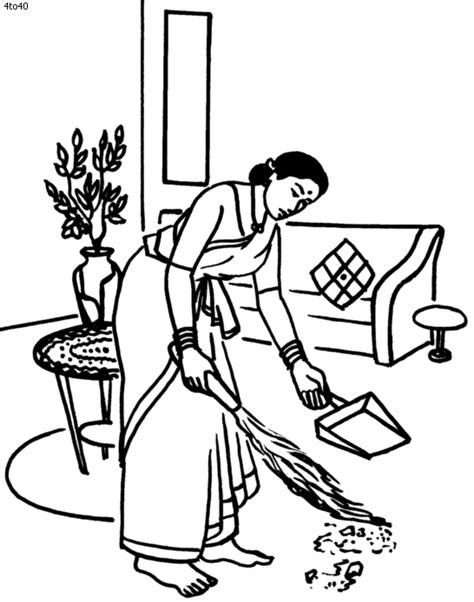 house cleaning coloring pages clean coloring pages