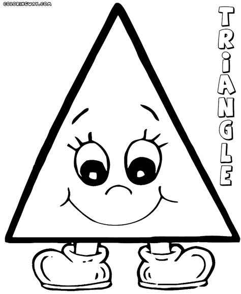 triangle coloring pages for toddlers triangle coloring pages coloring pages to and print