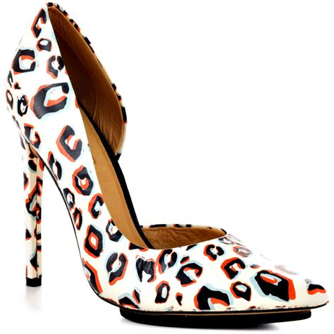 l a m b camryn ii white leopard shoes for faeaa