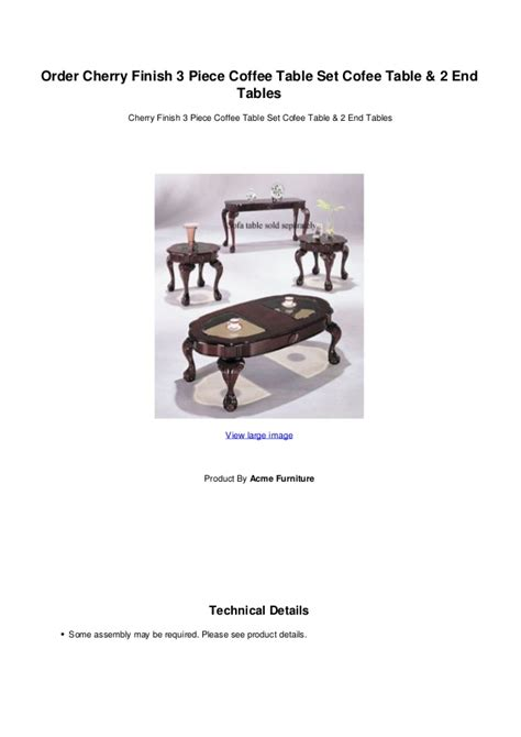 cherry finish coffee table order cherry finish 3 coffee table set cofee table 2