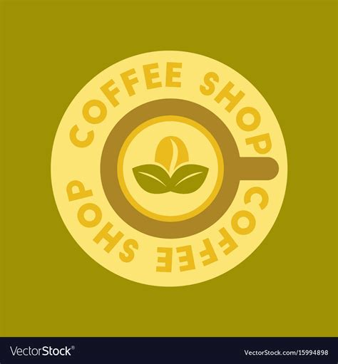coffee shop background pattern royalty free vector image flat icon on background coffee shop logo royalty free