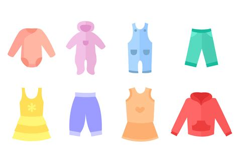 free baby clothes vector free vector stock