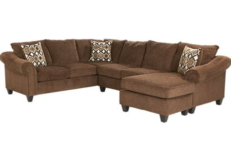 vista chocolate sectional lago vista chocolate 2 pc sectional living room sets brown