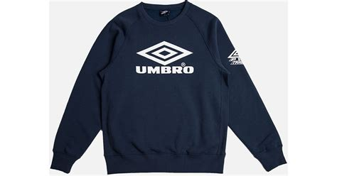 Sweater Umbro Umbro Classic Crew Sweatshirt Navy In Blue For Lyst