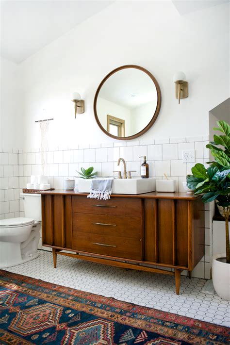 Modern Vintage Bathroom Modern Vintage Bathroom Reveal Brepurposed